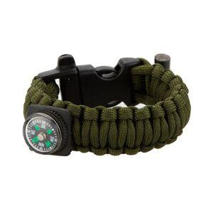 MILRAB Survival Bracelet m/ Fire Starter & Compass - Armband - Olivgrön