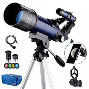 XIYU-118 Eono av Amazon Eono av Amazon Bärbart astronomiskt teleskop, 70 mm HD refraktorteleskop för astronomi