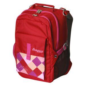 Bergans XO 25 skolesekk Pocket Red/Magenta Pink