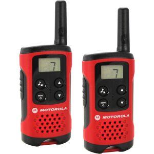 Motorola TLKRT40 Motorola TLKR T40 Com-radio, 8 kanaler, 4km, LCD, 2xenheter, rød/svar (Kan sendes i brev)