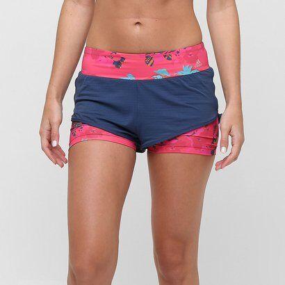 Short Adidas Adidas Duplo Salinas Feminino - Feminino
