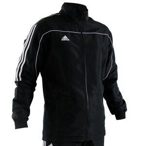 adidas overallsjacka svart med vita ränder 152