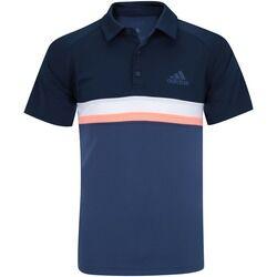 adidas Camisa Polo com Proteção Solar UV adidas Club Colorblock TD - Masculina - AZUL ESCURO