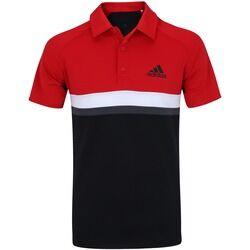 adidas Camisa Polo com Proteção Solar UV adidas Club Colorblock TD - Masculina - PRETO/VERMELHO