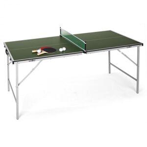 KLARFIT King Pong Mini-pingisbord ihopfällbart grön