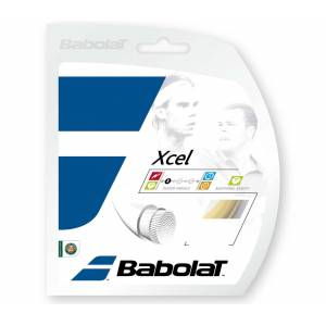 Babolat Xcel 12m Unisex Tennissträngar vit