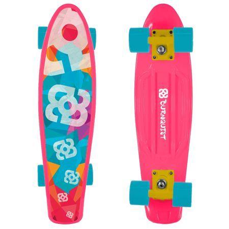 Multilaser Skate Mini Cruiser Atrio Bob Burnquist Rosa - ES092 ES092