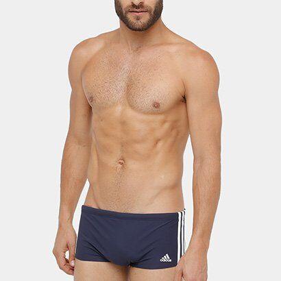 Sunga Adidas 3S Wide - Masculino
