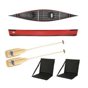Ally kano 15,5 rød m/årer og ryggstøtter