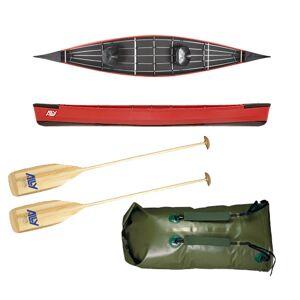 Ally kano 15,5 rød m/årer og pakksekk m/remmer