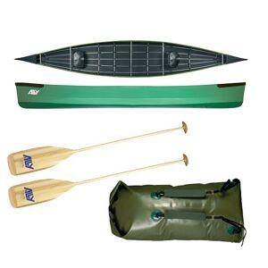 Ally kano 17 grønn m/årer og pakksekk m/remmer