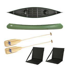 Ally kano 16,5 grønn m/årer og ryggstøtter