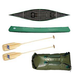 Ally kano 16 grønn m/årer og pakksekk m/remmer