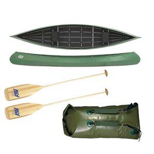 Ally kano 16,5 grønn m/årer og pakksekk m/remmer