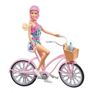 Barbie - Dukke Med Cykel - Pink