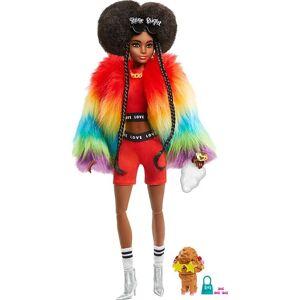 Barbie - Extra Dukke - Rainbow Coat