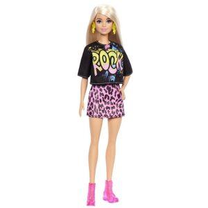 Barbie - Fashionistas Dukke - Rock T-shirt Og Nederdel