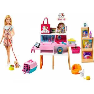 Barbie Dukke - Kæledyrs Butik Legesæt