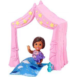 Barbie - Skipper Babysitters Inc. - Sæt Med Dukke Og Telt
