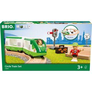 Brio World - Tog Med Rund Togbane Og Figurer - 33847