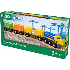 Brio World Tog - Godstog Med Tre Vogne - 33982