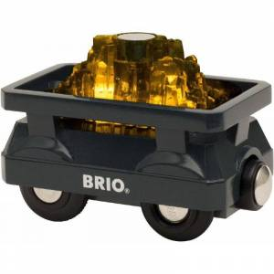 Brio - Guld Togvogn Med Lys - 33896