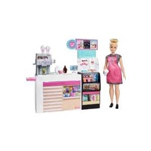 Barbie Naschcafé Playset, Flerfarvet, Mode dukke, Hunstik, Pige, 3 År, Not for children under 36 months,Small parts. Choking hazard