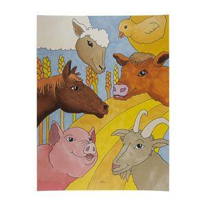Plakat med bondegårdsdyr - 30 x40 cm