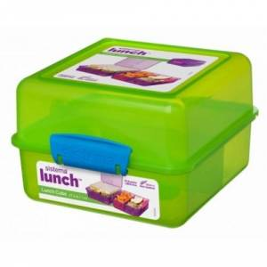 Sistema Lunch cube madkasse grøn/blå