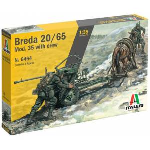Breda 20/65 Mod. 35 with crew Italeri 1:35 Byggesett