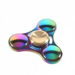 Fidget Spinner Collector Tri Rainbow Titanium