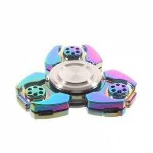 Fidget Spinner Collector Tri Transformer Rainbow Titanium