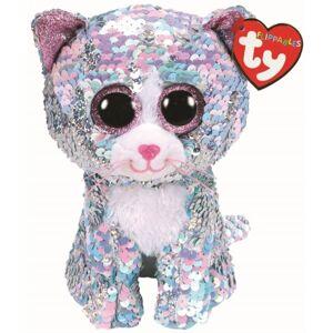 Bamse TY Whimsy blå katt reg: Flippables 15,5 cm