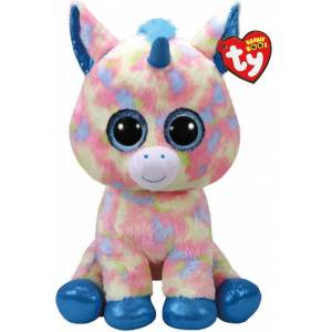 Bamse TY Blitz blue unicorn large: Beanie Boos 40 cm