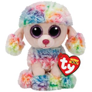 Bamse TY Rainbow poodle regular: Beanie Boos 15,5 cm