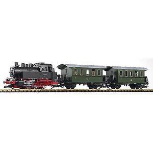 Piko G 37125 G Start-Set damplokomotiv BR 80 med 2 personbiler av DR