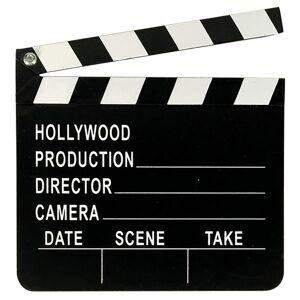 Amscan Hollywood Clapboard Svart/hvitt One Size