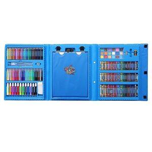 eStore Coloring boks for barn, 176 deler-blå