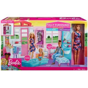 Barbie Doll House Med Dukke Og Møbler