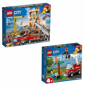 Lego City Lego City 60212 Barbecue Burn Out + 60216 Downtown Fire Brigade