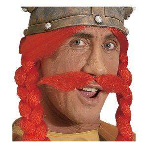 Viking Gallisk Viking Röd Mustasch