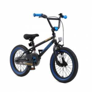 bikestar Premium Barncykel 16 svart/blå