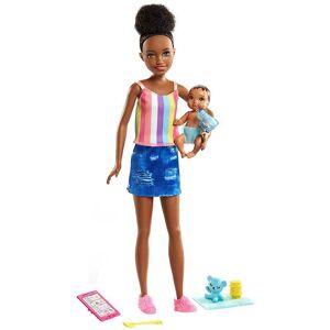 Barbie Barnvakt Skipper Babysitter med Bebis