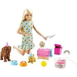 Barbie Puppy Party med valpar och leklera