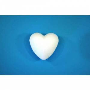 Staples Hemslöjdshjärtan, frigolit, vit, 85 mm