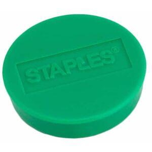 Staples Rund magnet, 10 mm, grön, hållkraft på 4 ark