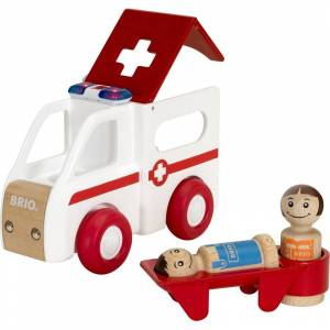BRIO® My Home Town – 30381 Ljus och Ljud Ambulans 12 mån - 8 år