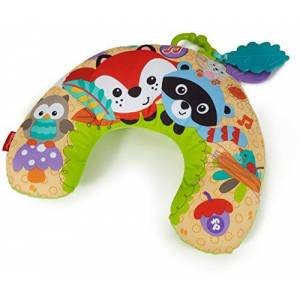 Fisher-Price CDN50 – Skogsvänner lekkudde, med avtagbar leksak och musik, babyutrustning, från 0 månader [exklusivt för Amazon]