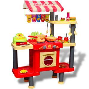 vidaXL Stort leksakskök för barn med ljud och ljus