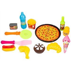 Jysk Partivarer Matset med Fast food  -lekmat - Med pizza och pommes frites - 13 delar